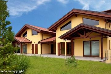 Modello Casa in Legno Casa in bioedilizia costruita su progetto /Villafalletto (CN) di sangallo srl