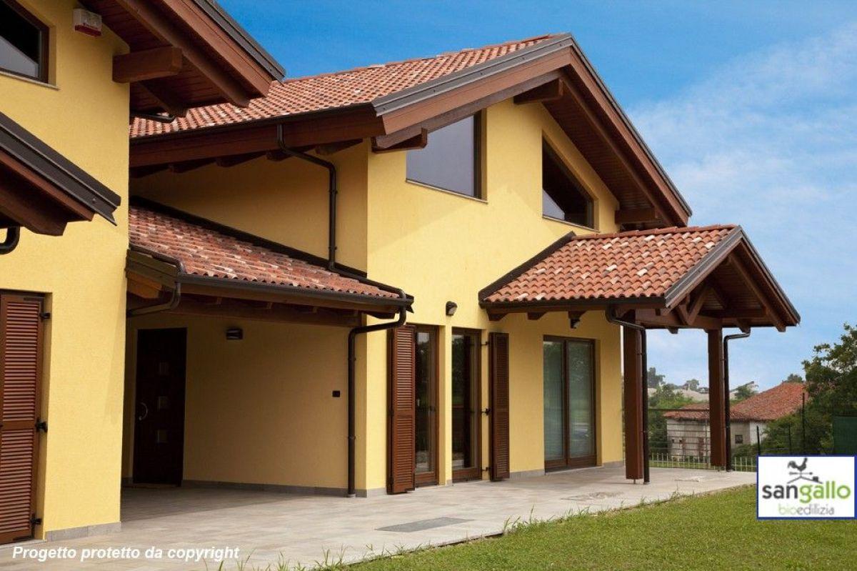 Casa in legno modello casa in bioedilizia costruita su for Costruttore di case virtuali