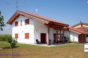Modello Casa in Legno Casa in bioedilizia costruita su progetto /Osasio (TO) di sangallo srl