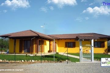 Modello Casa in Legno Casa in bioedilizia costruita su progetto /Trino (VC) di sangallo srl