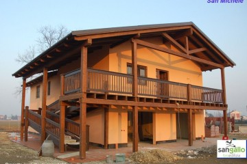 Modello Casa in Legno Casa in bioedilizia costruita su progetto /San Michele (AL) di sangallo srl