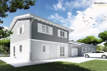 Modello Casa in Legno PROSSIMA REALIZZAZIONE FORLI' BIFAMILIARE 380 MQ di Wooden Buildings