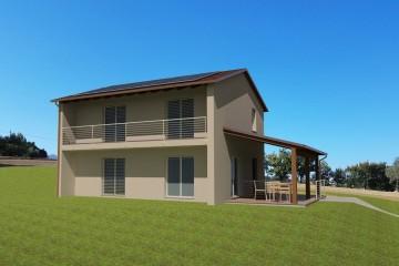 Modello Casa in Legno PROSSIMA REALIZZAZIONE A TREIA (MC)  160 MQ di Wooden Buildings