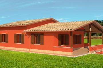 Realizzazione Casa in Legno VILLETTA MONOFAMILIARE A TOLENTINO (MC) 122 MQ di Wooden Buildings