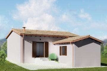 Realizzazione Casa in Legno VILLETTA MONOFAMILIARE A CAMERINO (MC) 136MQ di Wooden Buildings