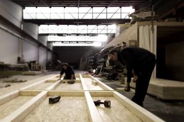 Modello Casa in Legno Produzione in stabilimento di Wooden Buildings