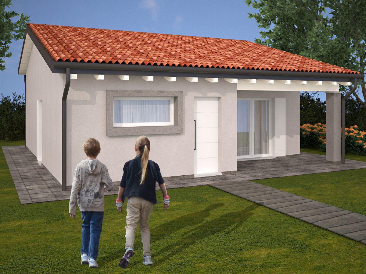 Casa in legno modello casa lavanda di tonin case in legno for Costruttore di case virtuali