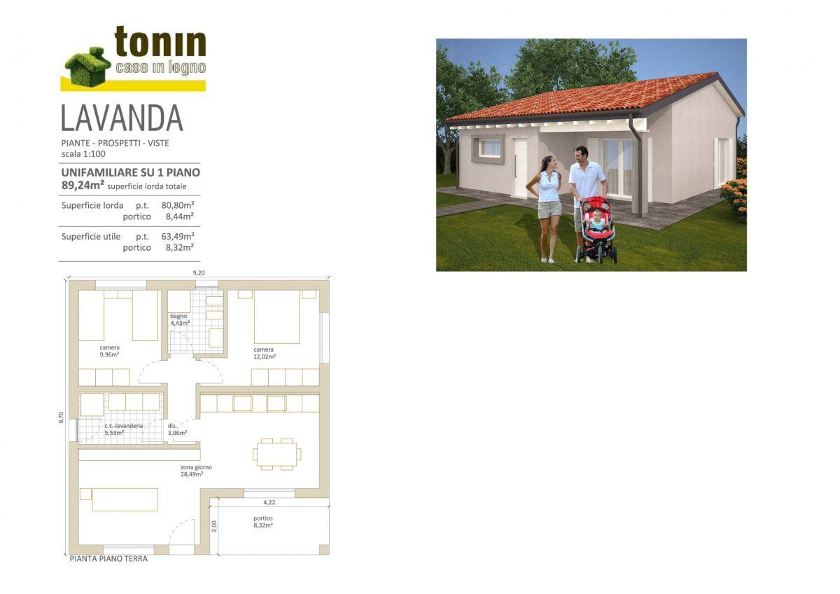 Casa in legno modello casa lavanda di tonin case in legno for Costruttore di case da sogno virtuale