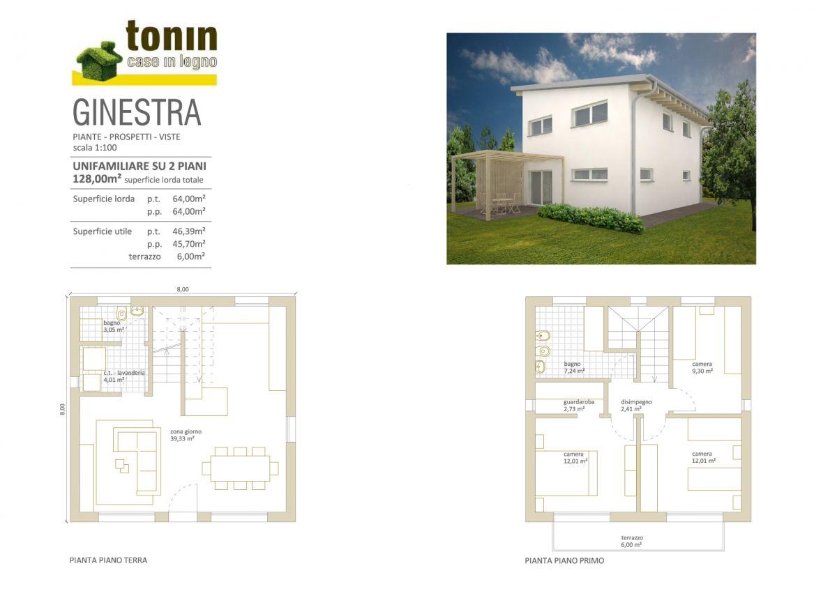 Casa in legno modello casa ginestra di tonin case in legno for Piani letto log gratuiti