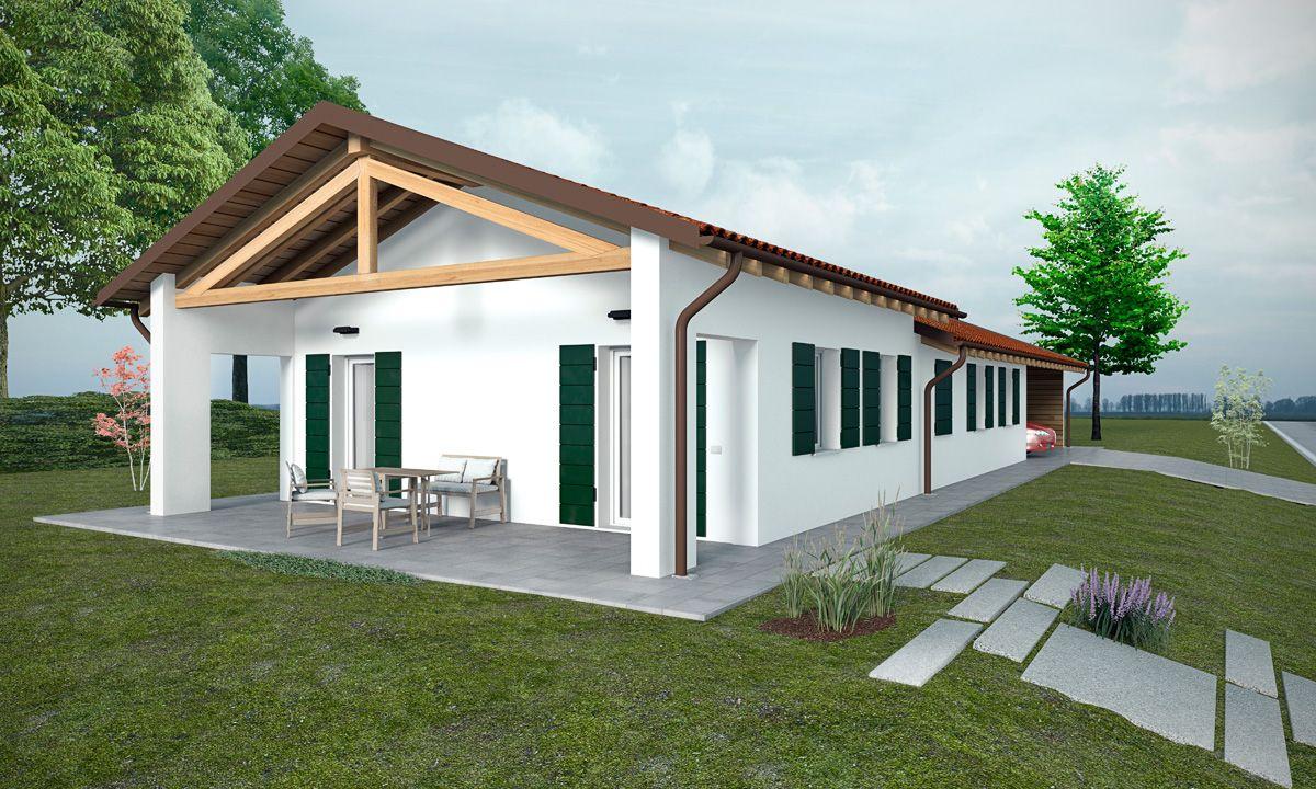 Casa in legno modello casa edera di tonin case in legno for Case ricoperte di edera
