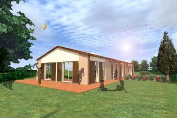Modello Casa in Legno B&B La Mimosa di caseclimatiche