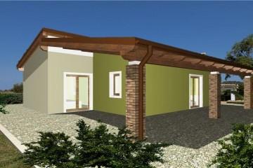 Modello Casa in Legno Casa blocco 2 di WOOD HOUSE