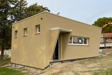 Realizzazione Casa in Legno Laboratorio con struttura a telaio di WOOD HOUSE