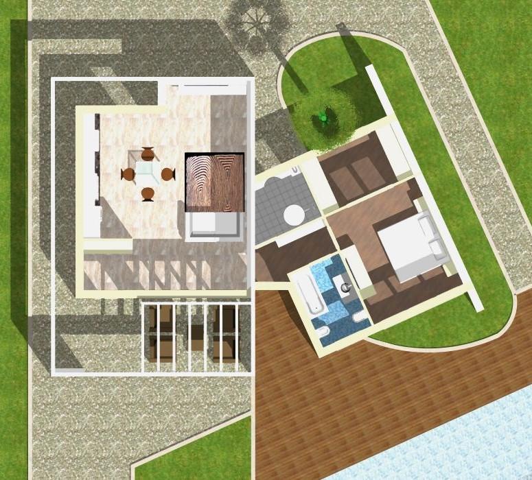 Planimetria della costruzione Casa in Legno modello Monopiano Monofamiliare Moderna di WOOD HOUSE