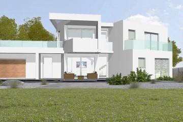 Modello Casa in Legno Monofamiliare Bipiano Moderna di WOOD HOUSE