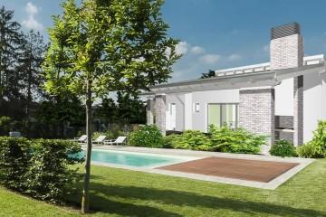 Modello Casa in Legno Monofamiliare Monopiano Moderna di WOOD HOUSE