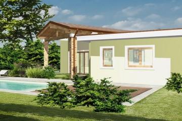 Modello Casa in Legno Monofamiliare Tradizionale Monopiano di WOOD HOUSE