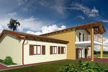 Modello Casa in Legno Bipiano monofamiliare tradizionale di WOOD HOUSE