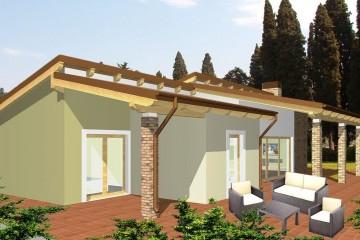 Modello Casa in Legno Monofamiliare Monopiano Tradizionale di WOOD HOUSE