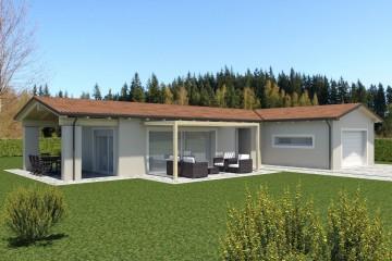 Modello Casa in Legno ECO 190 di ECOHOUSE srl