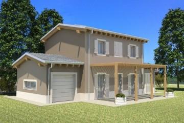 Modello Casa in Legno ECO 170 di ECOHOUSE srl