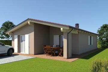 Modello Casa in Legno ECO 110 di ECOHOUSE srl