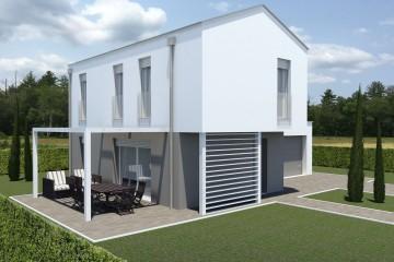 Modello Casa in Legno ECO 160 di ECOHOUSE srl
