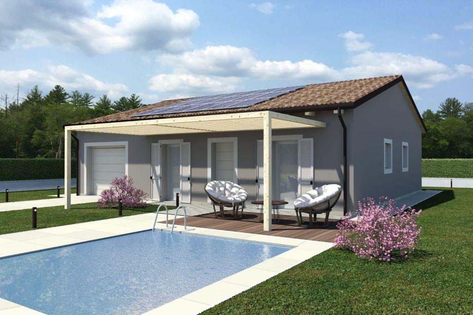 Casa in Legno in stile Classico: ECO 130