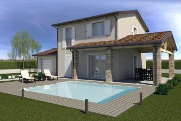 Modello Casa in Legno ECO 195 di ECOHOUSE srl