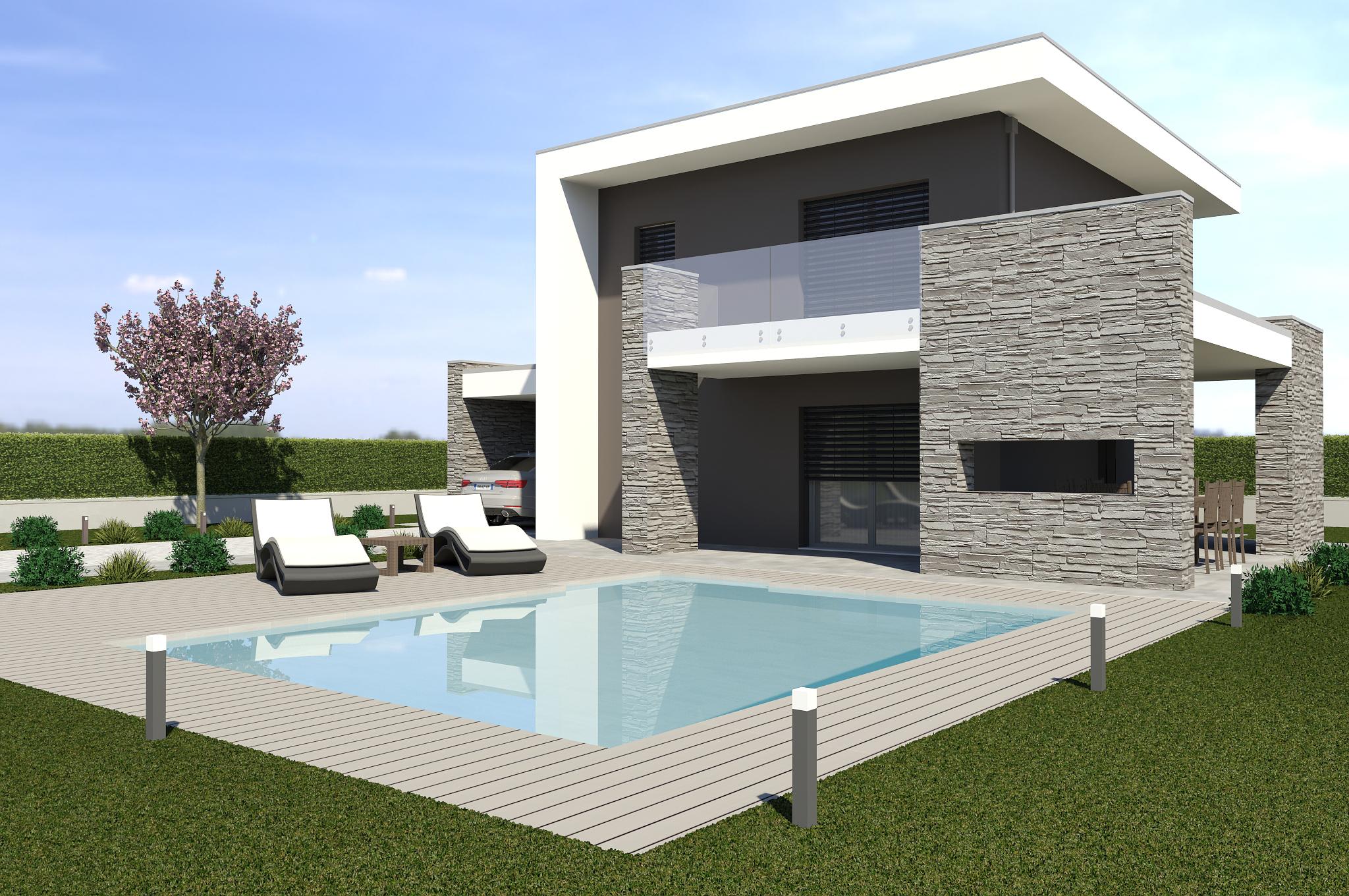 Planimetria della costruzione Casa in Legno modello ECO 180 di ECOHOUSE srl