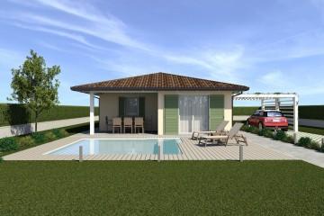 Modello Casa in Legno ECO 120 di ECOHOUSE srl