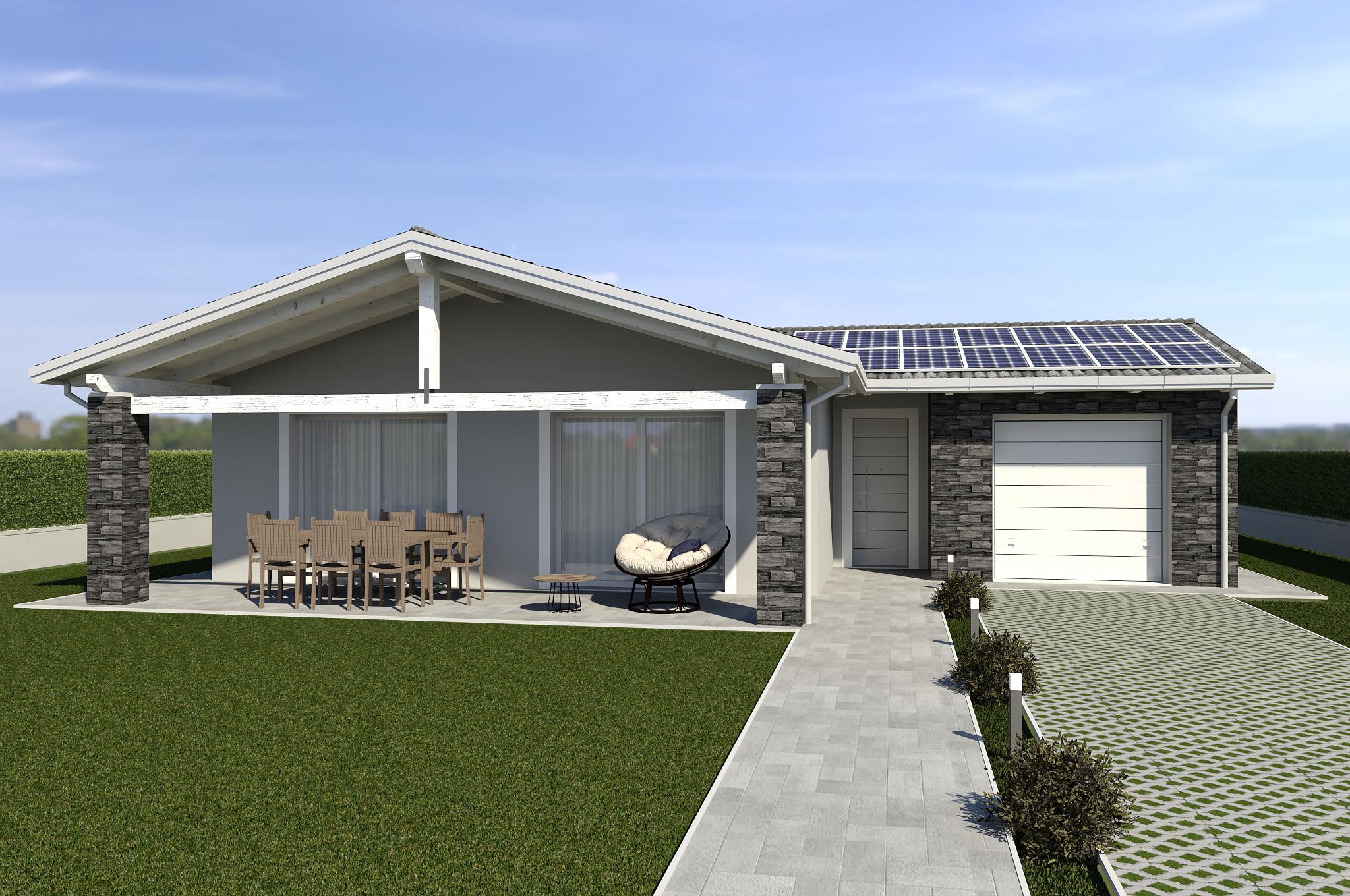 Planimetria della costruzione Casa in Legno modello ECO 160 di ECOHOUSE srl