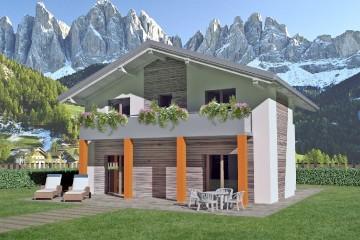 Modello Casa in Legno Lucè di Spazio Positivo