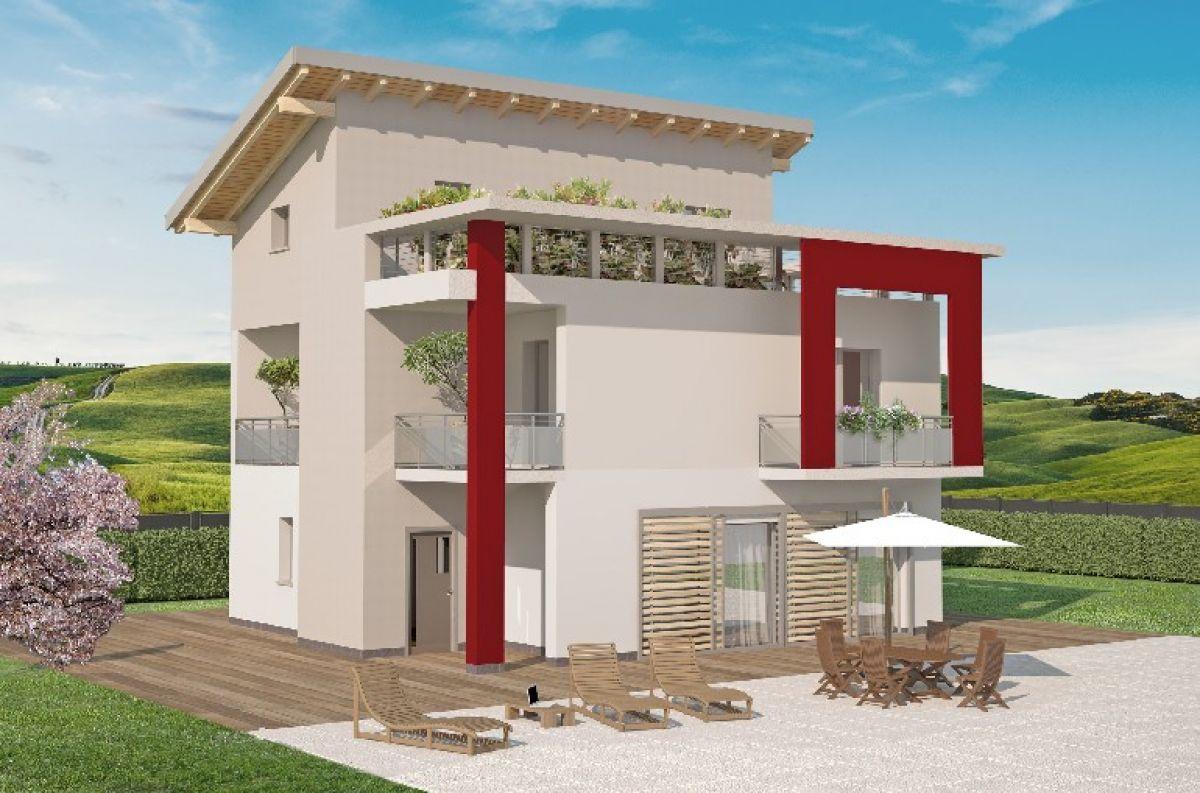 Casa in legno modello mod di spazio positivo for Modi di ingresso alle case