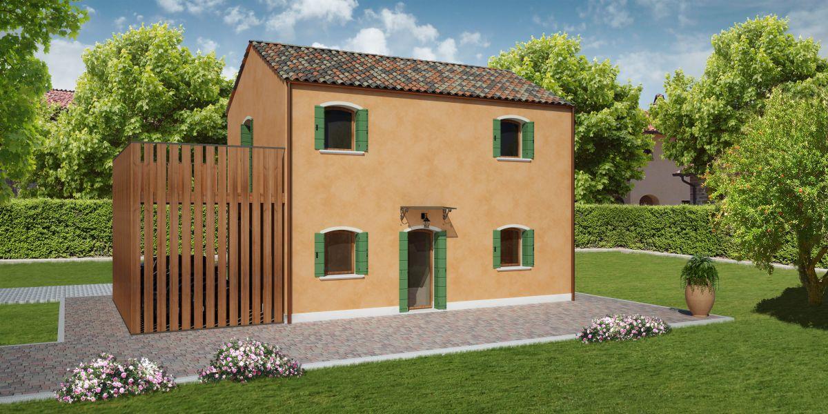 Casa in legno modello pellestrina di reiter case in legno for Aggiunte garage alle case