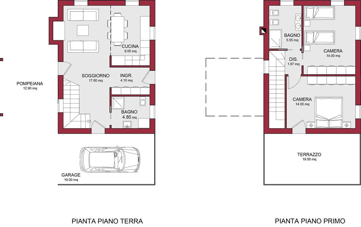 Casa in legno modello pellestrina 2 di reiter case in legno - Progetto casa 100 mq ...