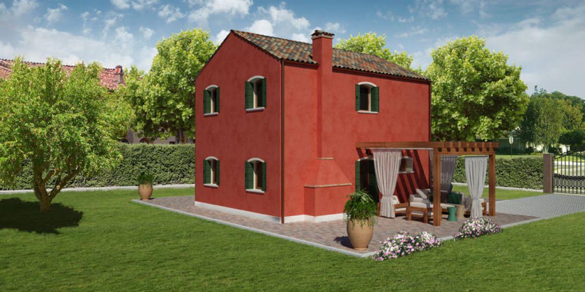 Casa in legno modello pellestrina 2 di reiter case in legno for Costruttore di case virtuali