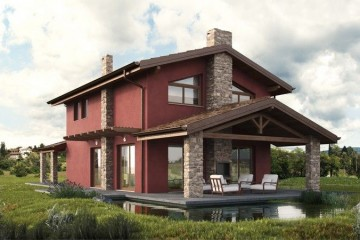 Realizzazione Casa in Legno WILD ROSE: una villa in X-lam ispiarata alla tradizione locale ma con un tocco contemporaneo. di DomusGaia