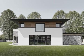Realizzazione Casa in Legno Villa Green River: icona di stile, design e pregio architettonico di DomusGaia