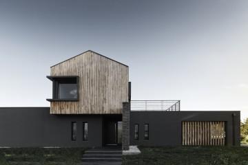 Realizzazione Casa in Legno VILLA CEDAR:  l'eleganza del legno in un design moderno dalle linee pulite di DomusGaia