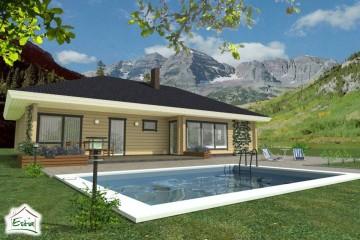 Modello Casa in Legno Pihlakas di Estia House oü