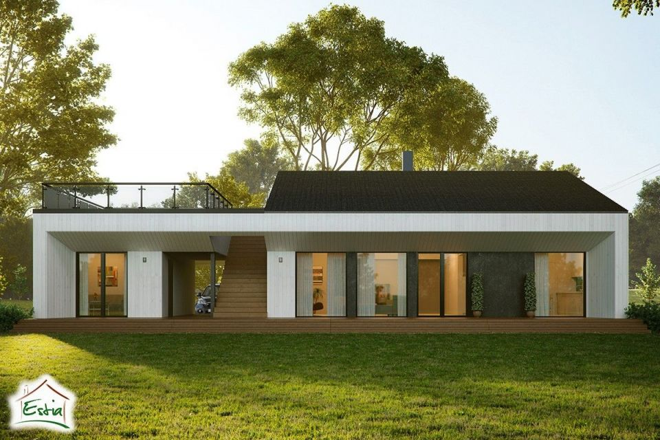 Casa in Legno in stile Moderno: Oscar