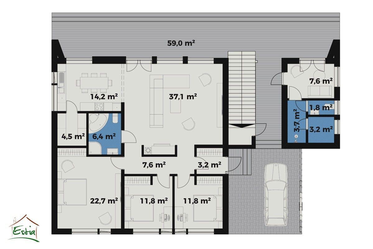 Casa in Legno modello Oscar di Estia House oü