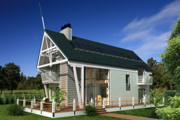 Modello Casa in Legno Coda di Estia House oü