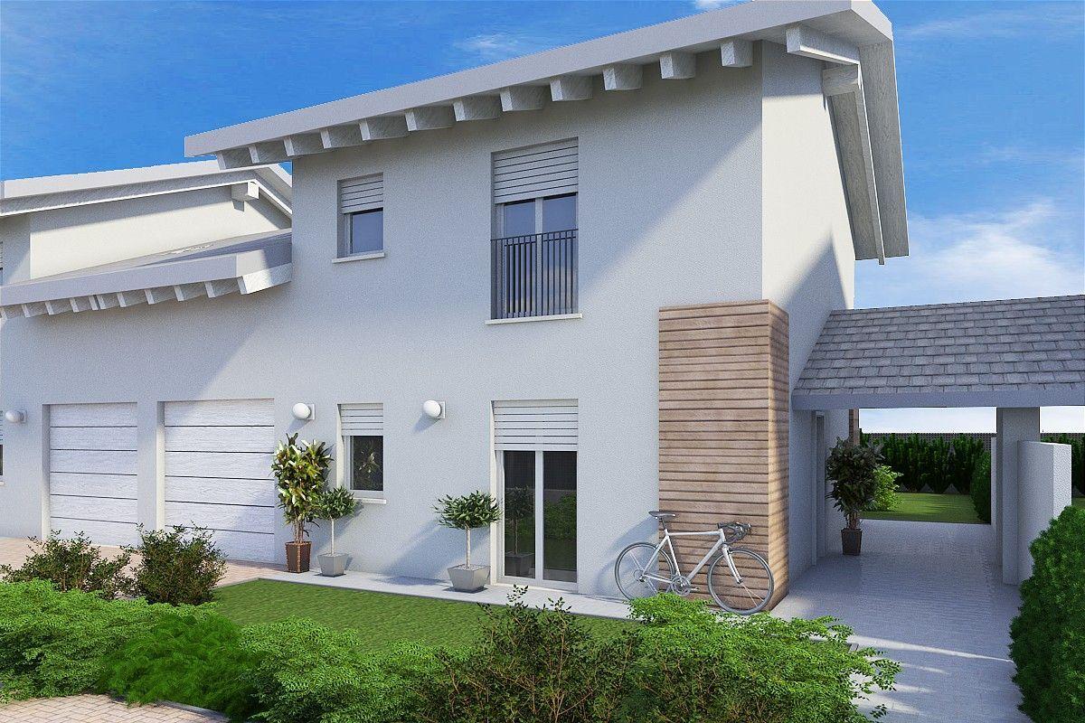 Casa in legno modello ville l41 di gruppo lanzaro for Case prefabbricate torino