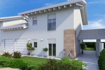 Realizzazione Casa in Legno VILLE BIFAMILIARI - L41 di GRUPPO LANZARO