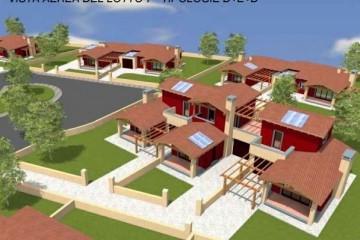 Modello Casa in Legno Complesso residenziale Natura di Edilbiocasa
