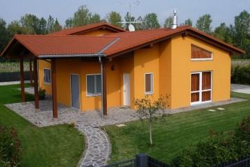Modello Casa in Legno Linea Architettonica Claron Mod.3 di KAMPA ITA