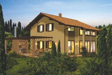 Modello Casa in Legno Linea Architettonica Lanos Mod.4 di KAMPA ITA