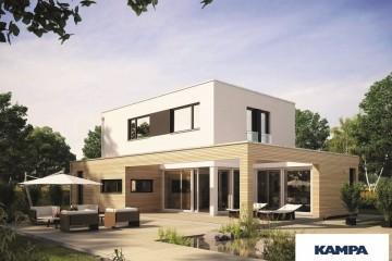 Realizzazione Casa in Legno Linea Architettonica Kubos Mod 1.1620 di KAMPA ITA